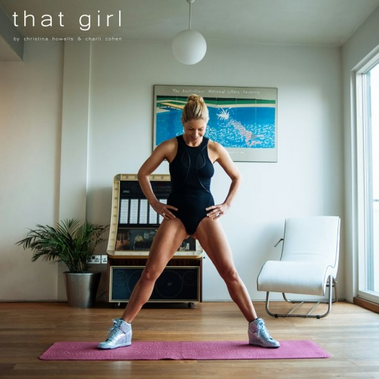 Christina Howells, personal trainer to fashion's elite demonstrates the workout exercises