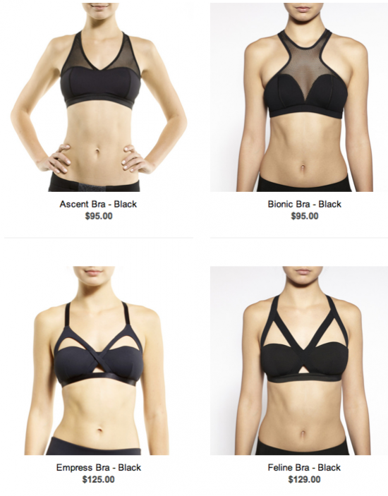 I spy with my little eye, four sports bras that I should own!